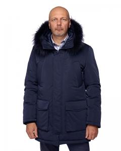 Куртка NORD navy опушка из натурального меха