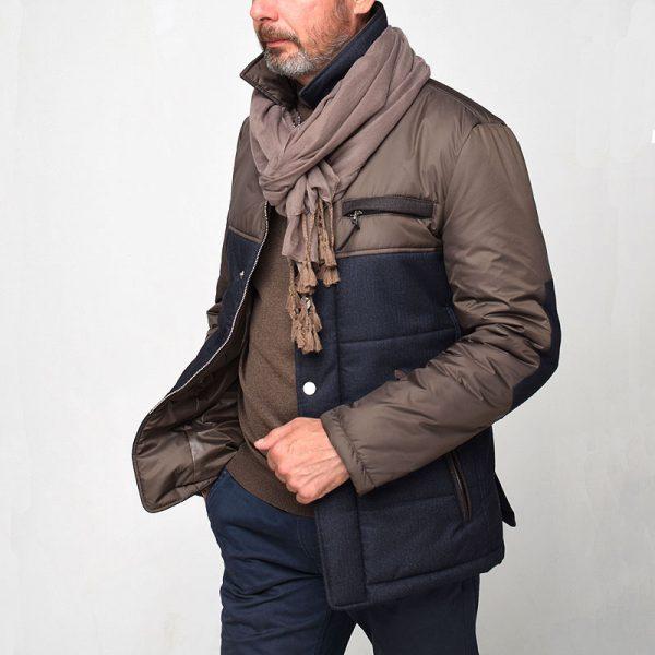 Куртка DUBLIN-3 со светло-коричневой тканью
