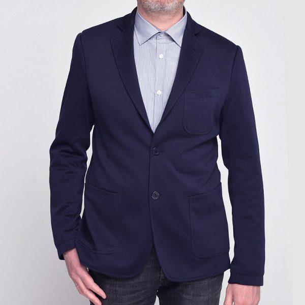 Темно-синий трикотажный пиджак SOFT NAVY