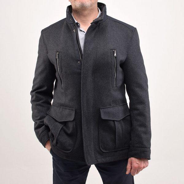 Утепленное короткое пальто LOFT-graphite