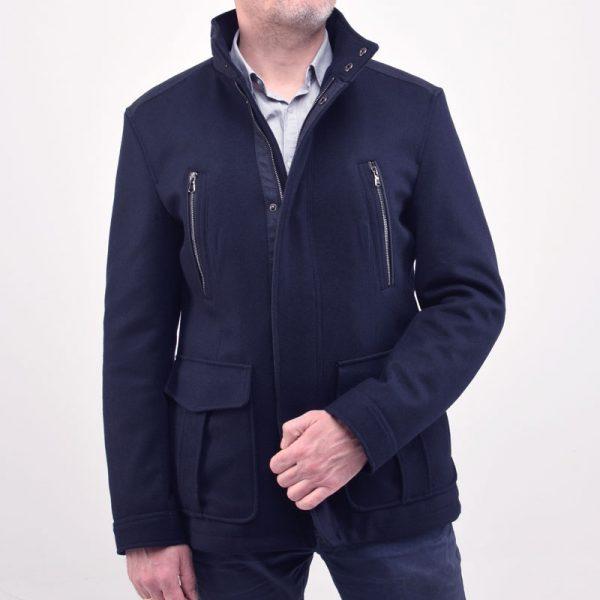 Короткое пальто LOFT-navy