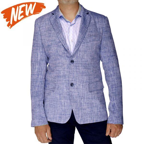 Льняной пиджак BROADWAY blue