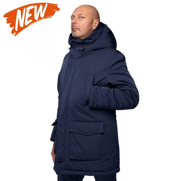 Куртка зимняя с мехом NORD-M navy